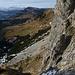 Abstieg von der Furgge nach Fontanen: links über Jänzimatt die Hächle