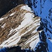 Blick vom Schwarzhoren (2927,7m) auf den Südwestgrat mit demgespurten Klettersteig. Ich war mir nicht sicher, ob der Grat begehbar gewesen wäre weshalb ich nicht diese Route gewählt hatte.