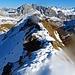 Der Grat auf dem Chüenihorn in Richtung zum Nordost-Abstiegsgrat, leider war die Linse angelaufen.
