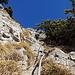 Die steilste Passage, gut mit Seilen gesichert