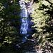 Der Wasserfall in der Nähe der Ahrain-Alpe