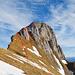 Varianten am Westlichen Fählenturm. Für den Aufstieg habe ich die Route links genommen, für dem Abstieg die Rinne. Man kann sich auch näher an den Grat halten beim Zustieg.