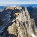 Ausblick vom Westlichen Fählenturm über den wilden Grat zu seinem östlichen Bruder