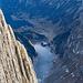 Diesen Tiefblick auf den Fählensee geniesst man auf dem Nebengipfel, 4-5m neben dem Gipfelsteinmann vom Westlichen Fählenturm