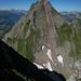 Normalroute auf den Gamsberg sieht aus dieser Perspektive recht gfürchig aus. Ist aber nur 40-55° steil.