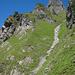Abstieg von der Malunfurggel zur Alp Malun.