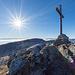 Gipfel Aiguilles de Baulmes 1558 m mit Blick zum Le Suchet.