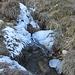 noch kein Schnee - dafür Eis am Bächlein