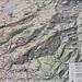 eine Wandertafel in Fraxern, der blau-weisse Wanderweg von Fadratza nach der Wanne-Alp ist nicht eingezeichnet.