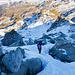 Die letzten Meter Aufstieg führen durch wildes Gelände