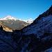 Rückblick zum Biberkopf, rechts davon der schöne Südwestgrat des Hohen Lichts