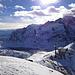 Tiefblick vom Lagalb-Gipfel auf den Lago Bianco