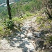Felsplattenweg auf dem Südgrat.