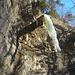 Der Wasserfall von unten.
