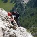 Ich ([u mali]) mitten im Pisciadu-Klettersteig.