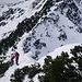 Steiler Auf- und Abstieg am Gipfelhang - gleichermaßen anstrengend
