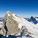 """Der Hängst mit """"einsamem"""" Gipfelstürmer vom benachbarten Aufschwung aus gesehen"""