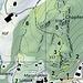 1: Weg existiert nicht mehr (rot)<br />2: Zugang von Mariahalde oder Autisstrasse (markiert) <br />3: Abstecher zum Aussichtspunkt  (markiert)<br />4: Weg aussen herum  (markiert) <br />5: Unser Auf- und Abstieg (blau)<br />6: Weg durch den Weinberg  (markiert) <br />7: Abstieg unten, wurde verlegt
