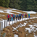 Idealer Schnee auf dem Strässchen