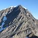 Ungewohnte Ansicht des Balmhorns. Links der Zackengrat, in der Mitte der Gitzigrat und rechts der Wildelsigengrat.