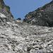 3. und schwierigste Steilstufe in der Westflanke des Rinderhorns. Sieht einfacher aus als es ist. Hier sollte man sich keine Unsicherheiten leisten.