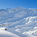 In der NE-Flanke vom Eggenmandli gibt es schon ziemlich ein paar Abfahrtsspuren von Skifahrern