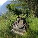 Interesting sculpture below Osca<br />Down in the valley: Faido
