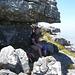 Der herrliche Überhang 4 Meter unterm Gipfel, Picknickspot 1. Klasse