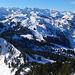 beinahe ein 360°-Panorama: vom Skigebiet Hoch-Ybrig bis zum Wildspitz ...