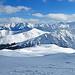 Blick zum Skigebiet Obersaxen