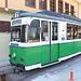 """Bursa - Am kleinen Depot der 1.000 mm-Straßenbahn ist Triebwagen 201 abgestellt (T57, VEB Waggonbau Gotha - LEW, Baujahr 1959, ex Jena 104 u. a., ex Istanbul). Das vor fast 60 Jahren in der DDR hergestellte Fahrzeug ist offenbar ein Publikumsliebling: Die alte Tram ziert die Homepage des Verkehrsbetriebs """"BURULAŞ"""" der 2,8-Millionen-Einwohner-Metropole und offenbar auch unzählige Selfies. Zumindest muss man eine Weile warten, um eine Foto ohne andere Straßenbahnfreunde machen zu können;-)."""