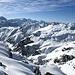 Bei ganz genauem hinschauen sieht man drei Skispuren die vom Wissgandstöckli runter kommen