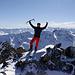 Gipfelbild: die Freude steht mir ins Gesicht geschrieben ;-)