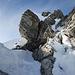 Sicherungskette am Gipfelfelsen