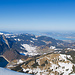 Ausblick gegen Zürich von unserem Rastplätzchen, wo wir die Schneeschuhe deponieren