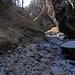 Schlucht der Raspille unterhalb des Wasserfalls 800 m