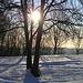 Siamo al posteggio...il sole già bacia l'alpe camasca