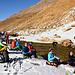 J4 - Petite pause au bord du torrent de retour du sommet. Plus que 3km de plat jusqu'au thé/halva de 17h.