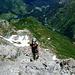 Kurz vor dem Gipfel - tausend Meter tiefer Warth.