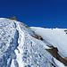 kurze Gratpassage hinauf zum Gipfel