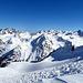 jetzt bin ich auf dem Grat zum Pischhorn angekommen und sehe nun hinüber ins Silvrettagebiet.<br />