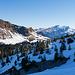 Schöne Sicht zum Sisiger Spitz und zur Druesbergkette direkt beim Start