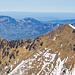 Man beachte die filigrane weisse Linie vom Schnee auf dem Grat. Erinnerungen an die [tour114341 schöne Gratwanderung vom Chlingenstock zum Driangel].