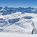 Vorder, Mittelster und Hinter Chinzerberg. Dahinter noch ein paar andere Gipfel. Was für eine Fernsicht!
