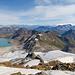Blick nach Westen, ein kleines Stück unter dem Gipfel fotografiert