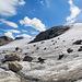 Panoramaaufnahme am Rand des Gletschers