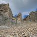 Gewaltige Felsbastionen unterhalb der Teurilücke
