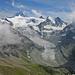 Dent Blanche (4357m), unmittelbar davor Grand Cornier (3962m) mit dem Glacier de Moiry