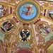 Ljubljana - In der St. Georgs-Kapelle sind die Wappen der Landesherren des Herzogtums Krain an Wände und Decke gemalt. <br />Als erster ist ein Rudolphus, Landgraf zu Elsass, aufgeführt (der übrigens nie Röm. Kaiser war). - Aber natürlich Schweizer .. ;)