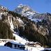 im hintersten Pflerschtal, bei den Steinhöfen, wo die Tour beginnt; im Hintergrund der Pflerscher Tribulaun, eine gewaltige Felsbastion